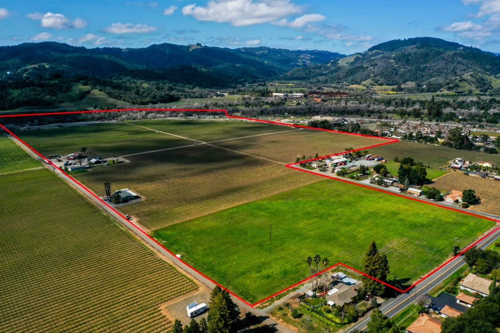 Bellavista Ranch looking west towards Cloverdales north end